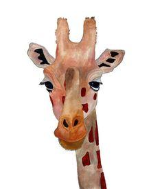 Marco  Giraffe Art8x10 by HamjArt on Etsy, $20,00
