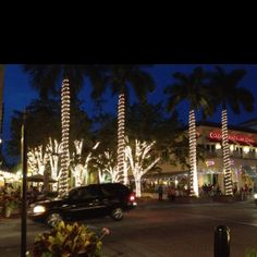 Fifth avenue Naples Florida! We love walking this area at night.  Great places to eat and people watch.