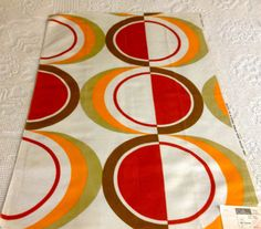 Fab Mid Century Op Art Fabric with a Panton Vibe// by KimberlyZ