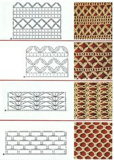 Mesh crochet stitches