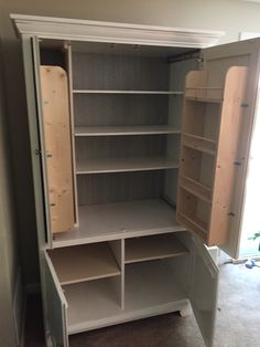 Repurposed Tv Armoire To Pantry In 2019 Bedroom