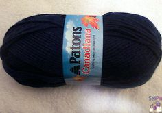$18.00 : Royal BLUE Patons Canadiana Yarn Medium Worsted Lot of 3 Skeins NEW