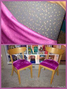 Hot pink velvet! $20 set of chairs made retro fabulous!