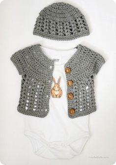 Cardigans para bebés a crochet