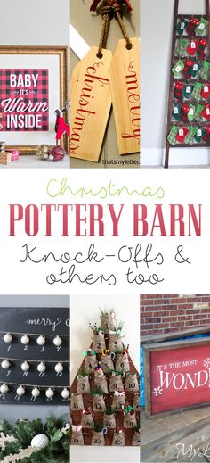 Christmas Pottery Barn Knock-offs and others too - The Cottage Market