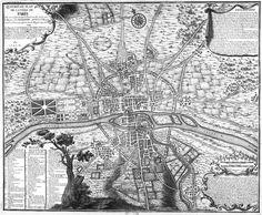 04 Plan de Paris 1223 Lhistoire de Paris par ses plans Part of a series of maps showing the growth of Paris - beautiful! Paris Map, Paris Travel, Paris France, Urban Mapping, Plan Paris, Paris Ville, Old Maps, Vintage Paris, City Maps