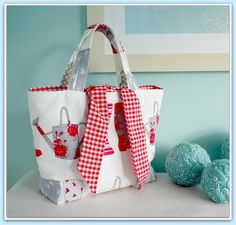 Reversible Tied Tote Bag - PDF Sewing Pattern