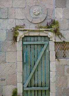 Provence door, made by Fennicole Miniatures