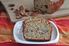 Whole Wheat Banana Pecan Cranberry Quick Bread Recipe (Power Foods) - Jeanette's Healthy Living