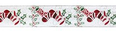 """Pack of 6 Christmas Stockings with Ivy Leaves and Berries Wired Craft Ribbon 2.5"""" x 60 Yards * Click image for more details."""
