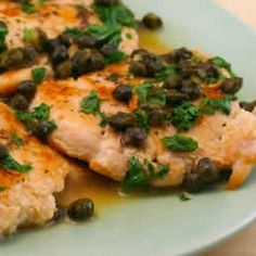 Chicken Piccata with Fried Capers - South Beach Phase 1