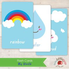My World Flash Cards AUTOMATIC DOWNLOAD por BUSYLITTLEBUGSshop