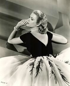 "Grace Kelly in her fabulous ""Rear Window"" dress"