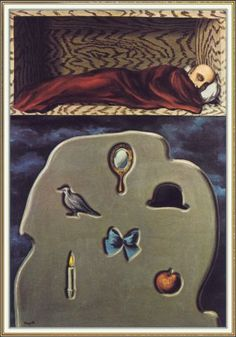 """surrealism-love: """"The reckless sleeper, Rene Magritte Size: cm Medium: oil, canvas"""" Rene Magritte, Conceptual Art, Surreal Art, Magritte Paintings, The Ancient Magus, Everyday Objects, Salvador Dali, Paris, All Art"""
