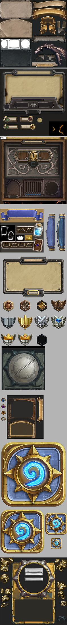 ui assets from hearthstone broken down