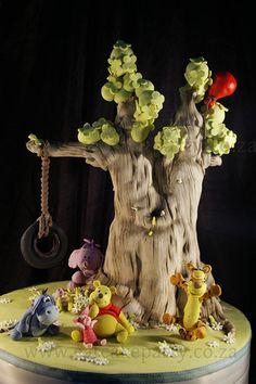 Luka's Pooh Bear Tree.  Awesome cake by Dot!