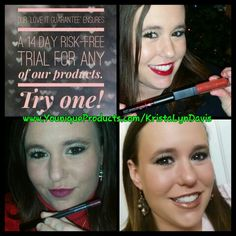 "Try our ""LOVE IT"" guarantee deal! You get a 14 day RISK FREE trial on our products! You have nothing to lose! Check out my link and pick something. My favorites in order 1- 3D Mascara 2- Lipstain 3- Bronzer 4- Splurge Cream shadow and a pallet with it 5- Primer www.YouniqueProducts.com/KristaLynDavis"