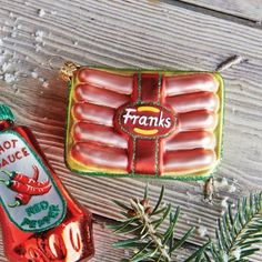 Xmas Hot Dog ornament $13.96