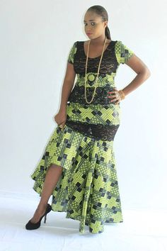 Olive green and black African wax print top skirt ensemble ~Latest African Fashion, African Prints, African fashion styles, African clothing, Nigerian style, Ghanaian fashion, African women dresses, African Bags, African shoes, Kitenge, Gele, Nigerian fashion, Ankara, Aso okè, Kenté, brocade. ~DK