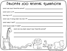 Classroom Freebies Too: Zoo Animals Writing