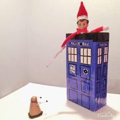 Just A Little Creativity: Dr. Who Elf on the Shelf  #DrWho #geek #ElfOnTheShelf