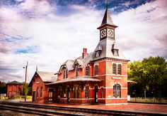 Point of Rocks Train Station  Copyright (c) 2012 by Walt Stoneburner All Rights Reserved.