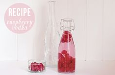 make your own Raspberry Vodka