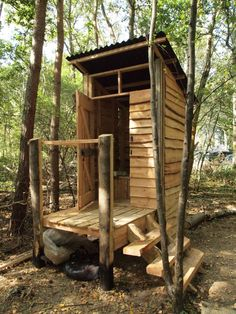 Composting Toilet building, otherwise known as a Woodland Eco-Bog!