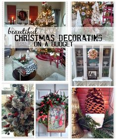 Christmas Decorating on a Budget ~ Come and see how I decorated my Christmas home for under $30! at www.diybeautify.com