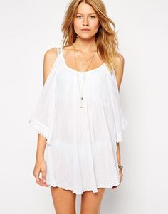 ASOS Cheesecloth Cold Shoulder Beach Tunic