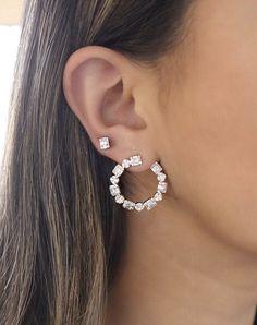 Dainty Diamond Earrings in Solid Gold / Chevron Earrings / V Stud Earrings / Delicate Diamond Studs / Graduation Gift - Fine Jewelry Ideas Crystal Earrings, Crystal Jewelry, Silver Earrings, Gold Jewelry, Diamond Earrings, Gold Bracelets, Bridal Earrings, Statement Earrings, Jewelry Sets
