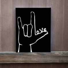I Love You Sign Language Hand Painted Canvas Love Painted on Thumb Wedding Gift Ready to Hang Multiple Sizes Home Decor Painting Ideas Simple Canvas Paintings, Easy Canvas Painting, Cute Paintings, Diy Canvas Art, Love Painting, Paintings For Kids Room, Paintings With Quotes, Canvas Quote Paintings, Canvas Quotes