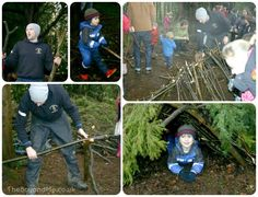 Forest play: making dens! ('Natural Childhood') - YES! GET THOSE KIDDOS OUTSIDE!