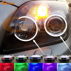 47.20$  Watch here - For Toyota Avensis T25 2006 2007 2008 2009 Excellent Multi-Color Ultra bright RGB LED Angel Eyes kit Halo Rings  #magazine