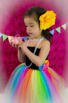 Newborn  Size 9 Rainbow Tutu Dress by krystalhylton on Etsy, $35.00