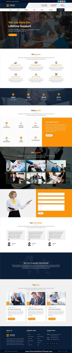 BizPro is a clean and modern design responsive #bootstrap HTML #template for #corporate business #website to download & live preview click on image or Visit