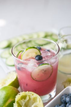 Blueberry Cucumber Gimlet... just in time for indian summer.