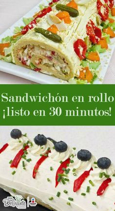 Cocina – Recetas y Consejos Sandwich Cake, Fat Foods, Wrap Sandwiches, Food To Make, Catering, Buffet, Food And Drink, Appetizers, Favorite Recipes