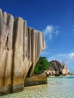 The Anse Source d'Argent Beach on La Digue, Seychelles