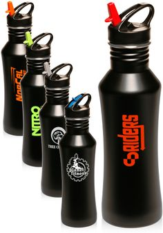24 oz. Stainless Steel Water Bottles. Great to get personalized and custom printed for your promotional events.