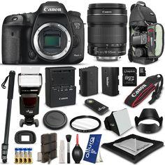 Amazon.com: Canon EOS 7D Mark II Digital SLR Camera + Canon EF-S 18-135MM f/3.5-5.6 IS STM Lens + Advanced Accessory Kit: Camera & Photo