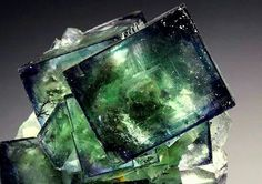 Fluorite with phantoms and inclusions