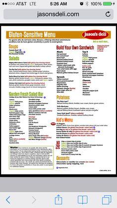 Jason's deli gf menu items