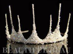 La mitad de la corona Tiara Tiara Nupcial corona por BeautifulBeau