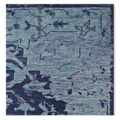 Mystic Medallion Hand Knotted Rug Swatch, Blue #williamssonoma