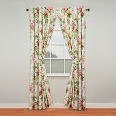 Shop for Sweet Jojo Designs Pink, Green, Off-White and White Window Treatment Curtain Panel Pair for Riley's Roses Collection. Get free delivery On EVERYTHING* Overstock - Your Online Home Decor Outlet Store! Rod Pocket Curtains, Lined Curtains, Window Curtains, Waverly Curtains, Waverly Bedding, Decorative Curtain Rods, Curtain Panels, Garden Line, Floral Room