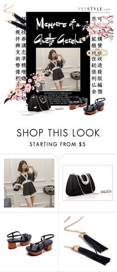 """""""Ghetto Geisha by YesStyle"""" by metropulse ❤ liked on Polyvore featuring Glam Cham"""