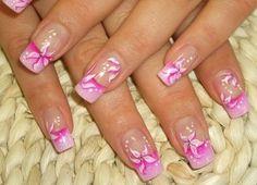 pink fingernail art | Beautiful Nail Art Designs