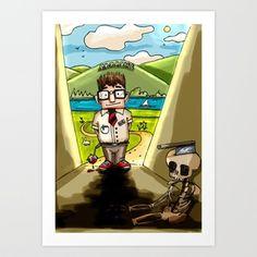 Enemy at the (Bill) Gates Art Print by illograph - $18.00
