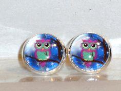 Ohrstecker Eule Ohrringe Damen Ohrschmuck Modeschmuck Metalllegierung Glas